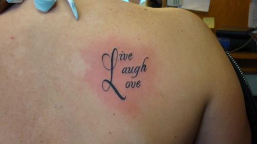 Back Shoulder Live Laugh Love Art