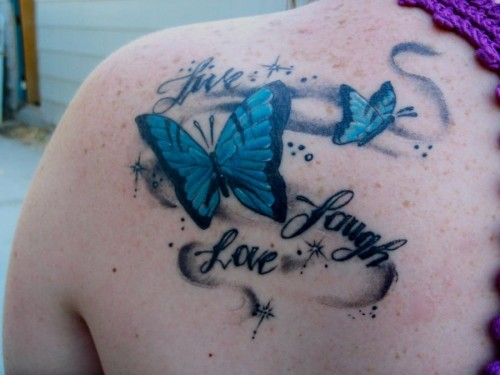 Beautiful Live Laugh Love Tattoos