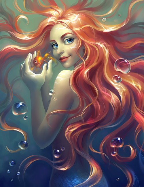 Beautiful Mermaid Art