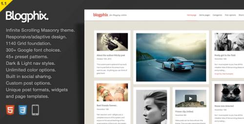 Blogphix - An Endless Scrolling Theme