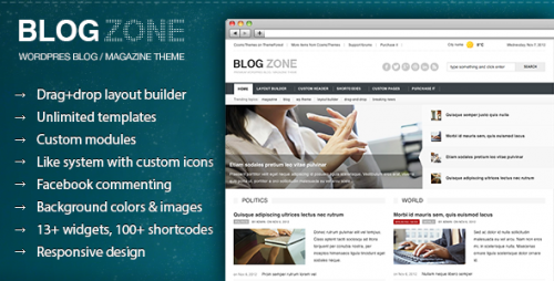 Blogzone - Builder Magazine Theme
