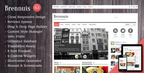 Brennuis - WordPress Magazine/Blog