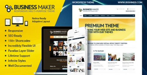 Business Maker Retina Corporate WP Theme