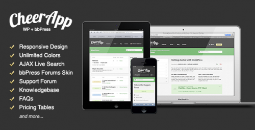 CheerApp - Responsive WP Theme