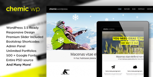 Chemic - Responsive All-In-One WP Theme