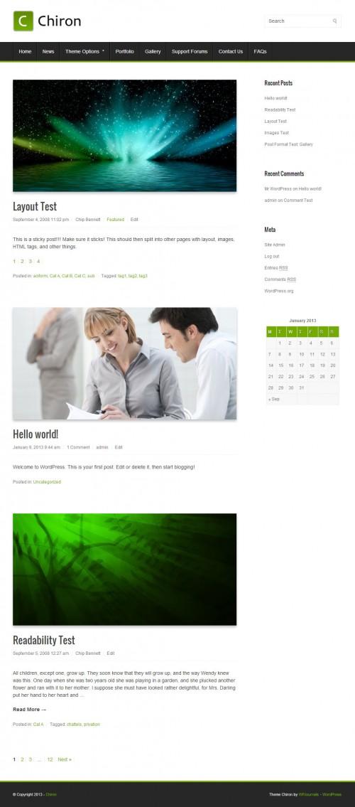 Chiron Free WordPress Theme