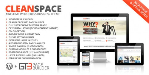 CleanSpace Retina Ready WP Theme