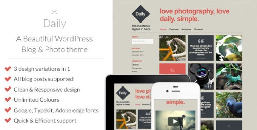 Daily - WordPress Blog & Photo Theme