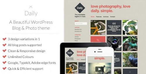 Daily - WordPress Blog & Photo Theme