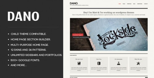 Dano Responsive WordPress Theme