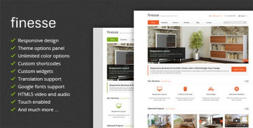 Finesse - Business WordPress Theme