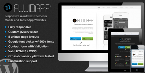 FluidApp - Mobile App WordPress Theme
