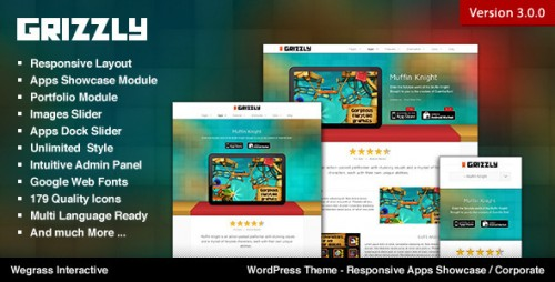 Grizzly - Responsive App Showcase