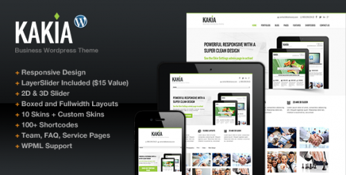 Kakia Business Corporate WP Theme
