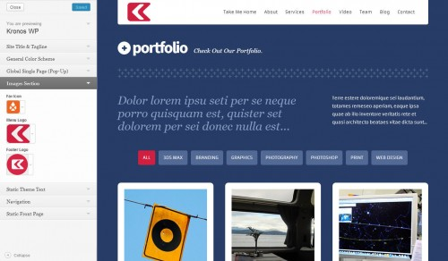 Kronos - One Page WordPress Theme