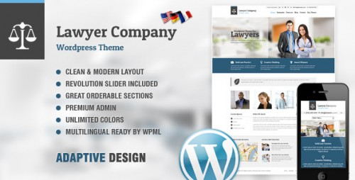 Lawyer - Adaptive WordPress Theme