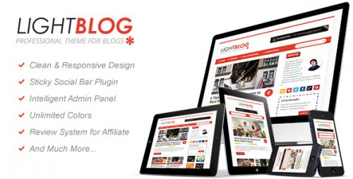 LightBlog: A Blogging WordPress Theme