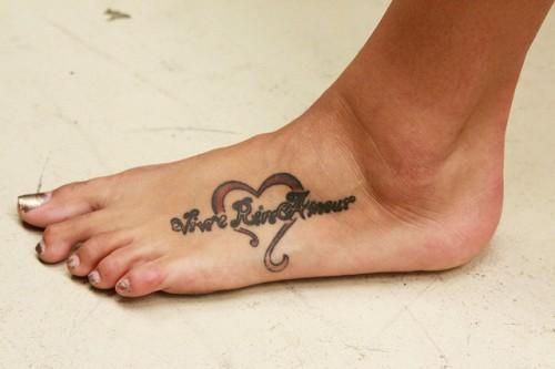 Live Laugh Love Feet Tattoos
