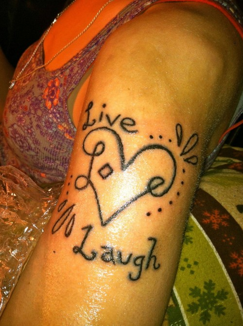 Live Love Laugh Tattoo Trend