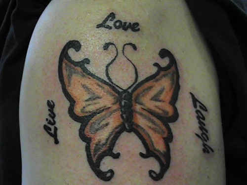 Live Love Laugh with Butterfly