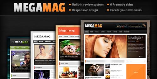 MEGAMAG - Responsive Blog Style Theme