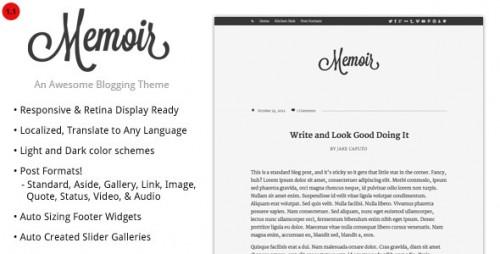 Memoir - Tumblog Style WordPress Theme