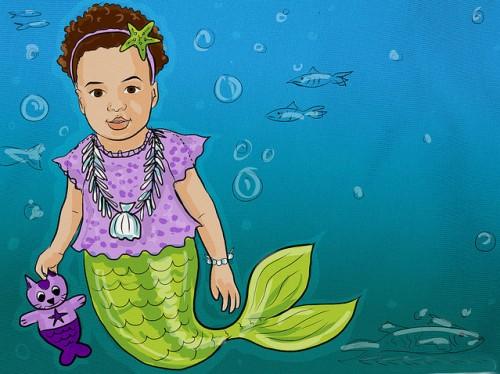 Mermaid Illustration Almost Done