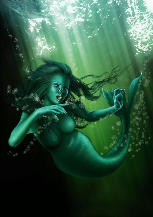 Mermaid's Feast Illustration