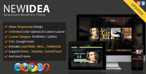 New Idea Responsive Layout Theme
