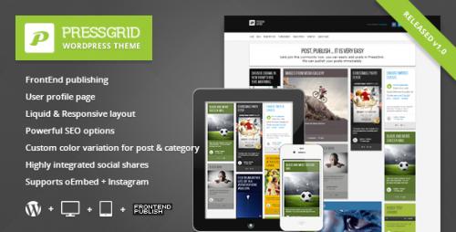 PressGrid - Frontend Multimedia Theme