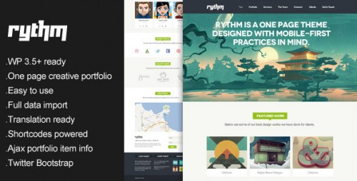 Rythm - One Page Responsive Theme