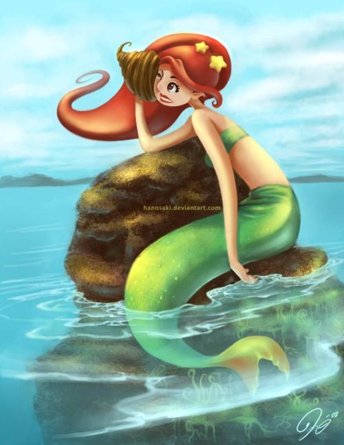 Sad Mermaid Illustration Art