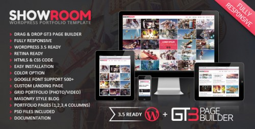 Showroom Retina Ready WP Theme