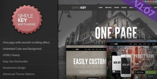 SimpleKey - One Page Portfolio Theme