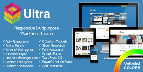 Ultra - Responsive Multipurpose WordPress Theme