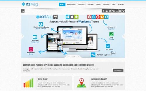 iceMag Multi Purpose Responsive Theme