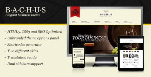 Bachus - Elegant Business Theme