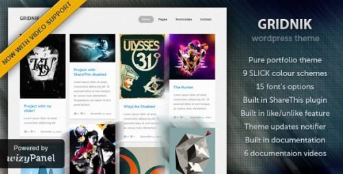 Gridnik - Elite Portfolio WordPress Theme