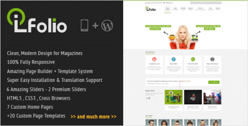 LioFolio - Responsive WordPress Theme