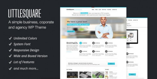 LittleSquare - Responsive WordPress Theme