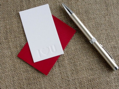 Love Notes Mini Blind Impression Card