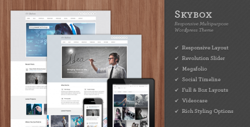 Skybox - Responsive WordPress Theme