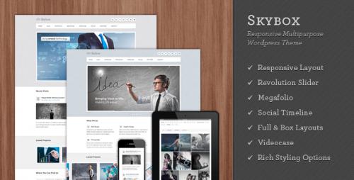 Skybox - Responsive WordPress Theme