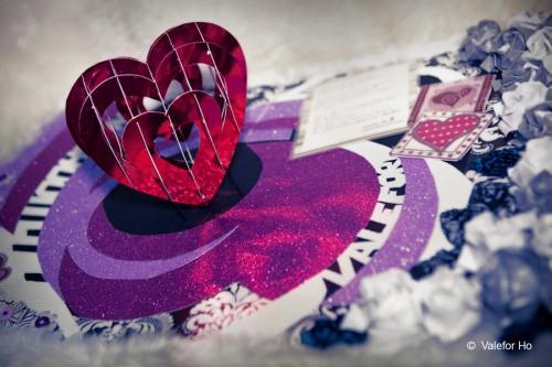 White Valentine's Day Card