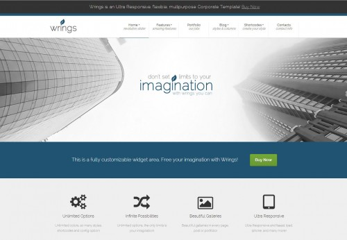 Wrings - Fully Responsive Corporate Template