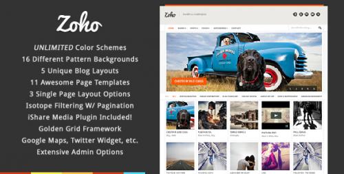 Zoho - WordPress Grid Portfolio