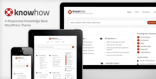 KnowHow - A WordPres Wiki Theme