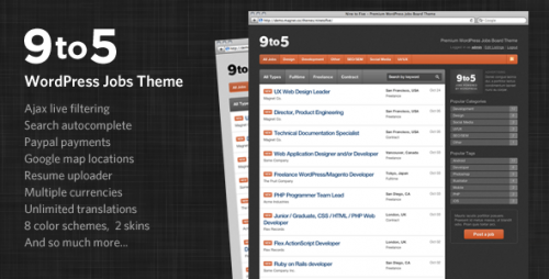Nine to Five - WordPress Jobs Theme