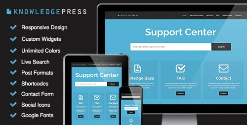Responsive Knowledge Base & FAQ Theme