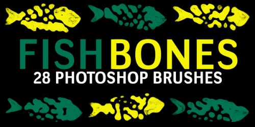 28 Fish Bones Brushes for Free